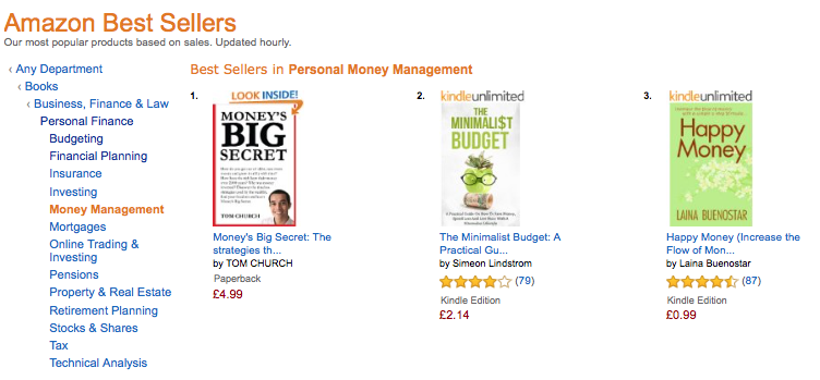 Money's Big Secret is a #1 Amazon Best Seller